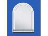 Зеркало 700*500мм с полкой,арка,внутренный фацет САНАКС 46906