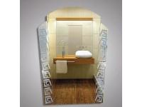 Зеркало   49.5 х 68  матовые вставки с рисунком КЗСК 45157