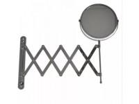 Зеркало косметическое раздвижное (гармошка) нержавейка хромированная САНАКС 75269