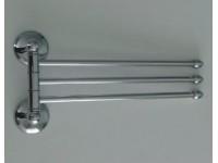 Держатель полотенца поворотный большой тройной с двойным креплением 79132