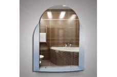 Зеркало  52 х 65  темные вставки  полка с пластиковым бортом КЗСК 46205в