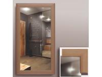 Зеркало  в рамке из МДФ 50 х 90см бук КЗСК 45301