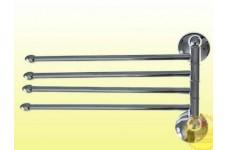 Держатель для полотенца поворотный большой тройной с двойным креплением 77132