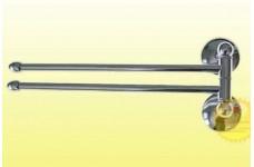 Держатель для полотенца поворотный большой двойной с двойным креплением 75130