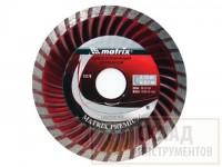 Диск алмазный отрезной Turbo 125*22,2 мм,сухая резка //MATRIX Professional 73179