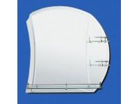 Зеркало 60*60 см с тремя полками матовые вставки и внутрений фацет САНАКС  46900