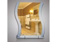 Зеркало 67,5 х 58 см. матированное + полка 50 см. пластиковым бортиком КЗСК 46146в