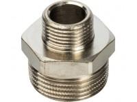Ниппель НН переходной никелированный 3/4X3/8 STOUT (SFT-0004-003438)