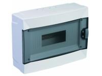 Бокс ЩРн-П-12 навесной на 8 модулей, IP40, пластик, белый, прозрачная дверь Schneider .лык