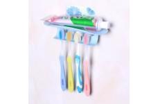 Подставка для зубных щеток и пасты, настенная 2317185