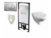 Инсталляция для унитаза АM 101 ALCAPLAST+кнопка  М71 + унитаз Jik DINO+сиденье