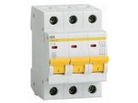 Автоматический выключатель  ИЭК 6А, 3р ИЭК ВА 47-29   MVA20-3-006-C  IEK
