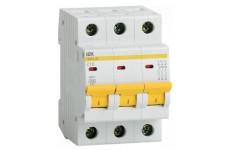 Автоматический выключатель  ИЭК 10А, 3р ИЭК ВА 47-29   MVA20-3-010-C  IEK