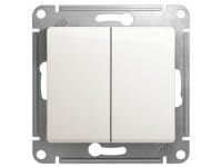 Выключатель GLOSSA 2-кл. перламутр  GSL000651