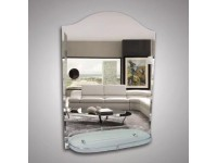 Зеркало 75*55 см. с фацетом+полка 52 см. латунным бортиком КЗСК 46101