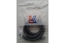 Шланг для стиральной машины сливной ELKA в упаковке (серый) 2,0 м. 8192