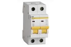 Автоматический выключатель 2П 10А С ВА47-29 4,5кА ИЭК MVA20-2-010-C