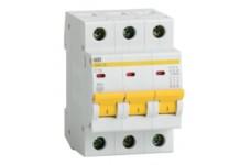 Автоматический выключатель 3П 10А С ВА47-29 4,5кА ИЭК MVA20-3-010-C