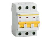 Автоматический выключатель 3П 16А С ВА47-29 4,5кА ИЭК MVA20-3-016-C