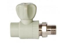 """Кран шаровый для радиатора прямой 20х1/2"""" Pro Aqua серый PA41008G"""