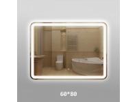 Зеркало 348ск с LED подсветкой 9,6 Вт/м.  80х60 см. с сенсор. выкл.КЗСК  3480806ск