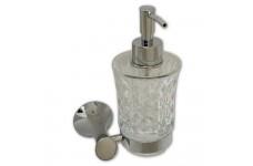 Дозатор для жидкого мыла MAGNUS из резного стекла с креплением к стене 85145