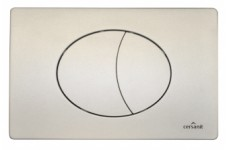 """Кнопка """"EGE"""" для инсалляции SLIM&SILENT, хром матовая прямоугольная"""