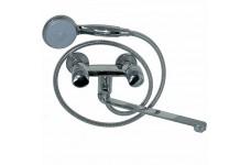 Смеситель в ванную MAGNUS металлокерамика с дивертером на корпусе ручка круглая (латунный корпус)