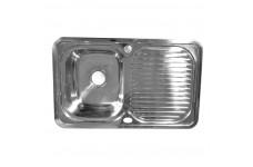 Мойка врезная Fabia 78х48 левая декор толщина 0,8 мм глубина 180 мм (сифон с переливом)