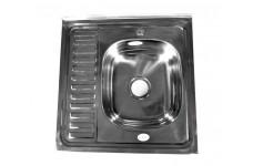 Мойка накладная Fabia правая 60х60 толщина 0,6 мм глубина 160 мм (сифон с переливом)